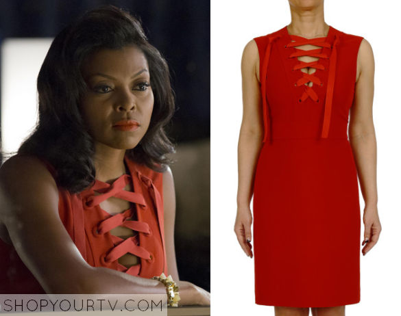 Empire Season 2 Episode 3 Cookies Red Lace Up Dress Shop