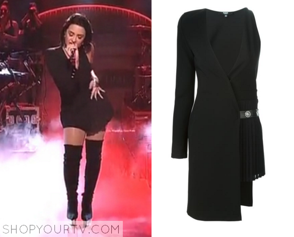 Demi Lovato wears One Sleeve Asymmetric  (Dress )
