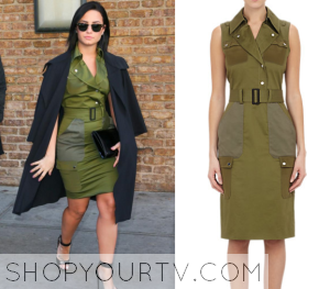 Good Morning America: October 2015 Demi's Green Utility Dress