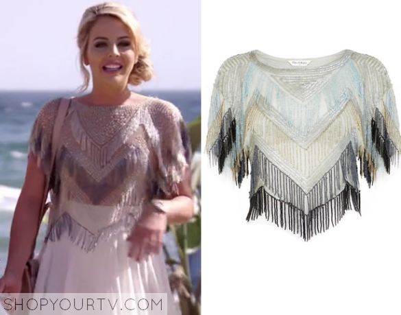 lydia beaded fringe top