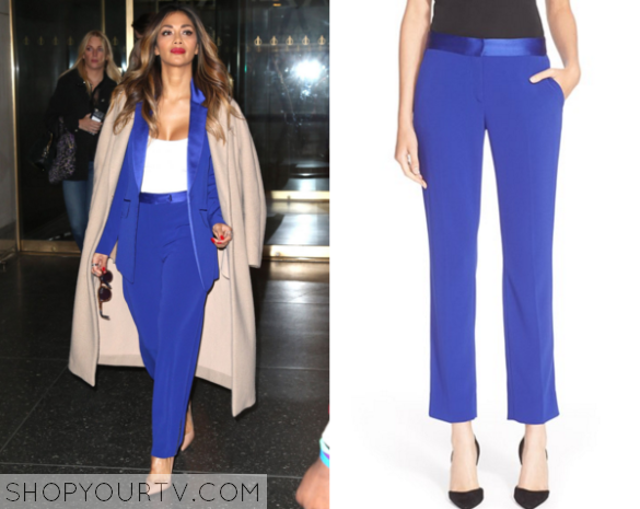 nicole blue trousers