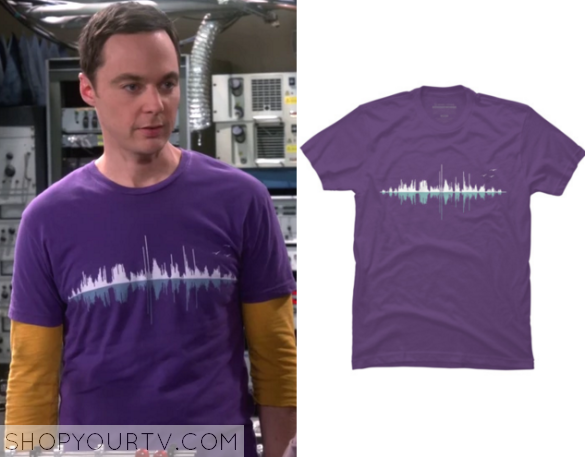 sheldon purple soundwave tee