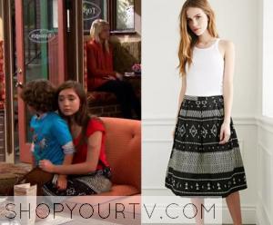 Girl Meets World: Season 2 Episode 23 Riley's Black and White Aztec Skirt