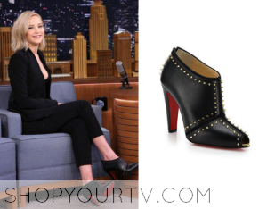 The Tonight Show: November 2015 Jennifer Lawrence's Black Studded Boots
