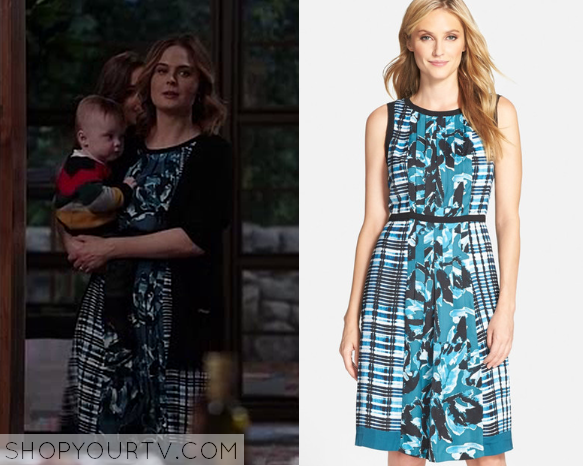 Bones: Season 11 Episode 8 Bones' Blue Print Dress – Shop ...