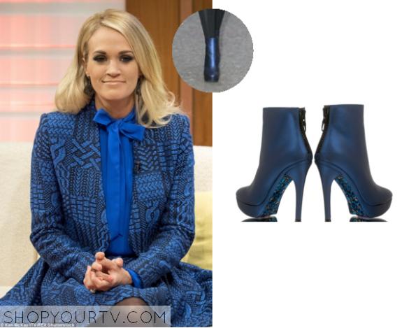 carrie metallic blue boots