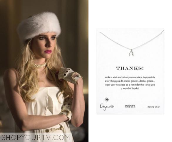 669747c41d4de Scream Queens: Season 1 Episode 9 Chanel's Wishbone Necklace | Shop ...