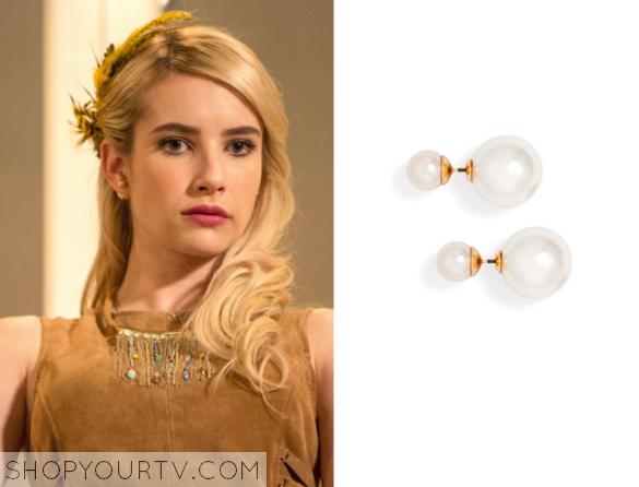 c769e2b02f68e Scream Queens: Season 1 Episode 9 Chanel's Pearl Earrings | Shop Your TV