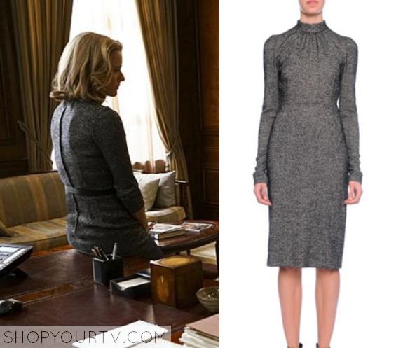 elizabeth grey tweed dress