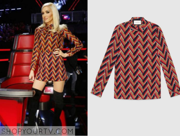 gwen chevron print top