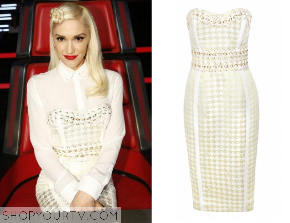 gwen houndstooth dress