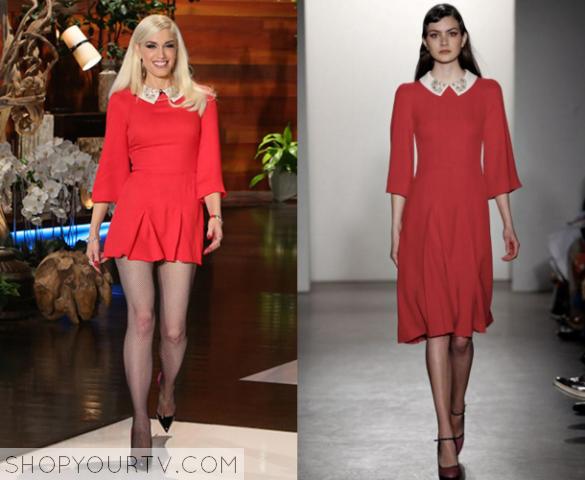 gwen red dress