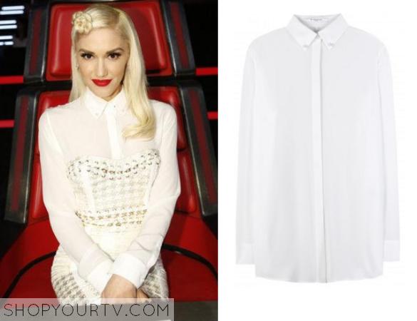 gwen white shirt