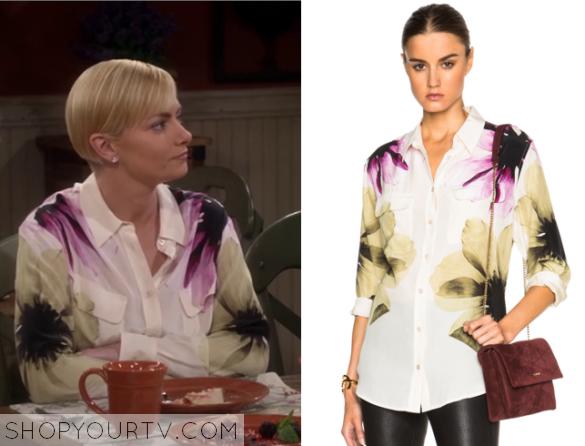 jill flower blouse