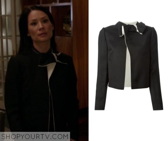 joan bow neck jacket