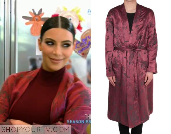 kim burgundy gown
