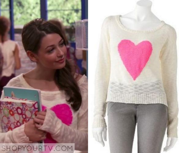 1x3 Charlotte Newman Heart Sweater