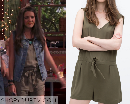 Bella and the Bulldogs 2x1 Lilimar Khaki Jumpsuit