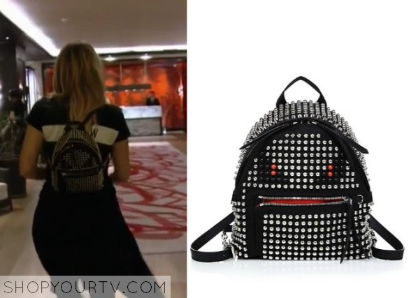 98c1bea1e715 KUWTK  Season 11 Episode 5 Khloe s Black Backpack