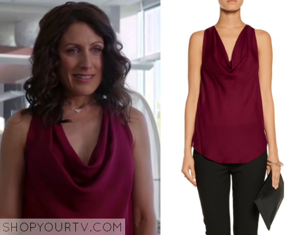 abby drape front blouse