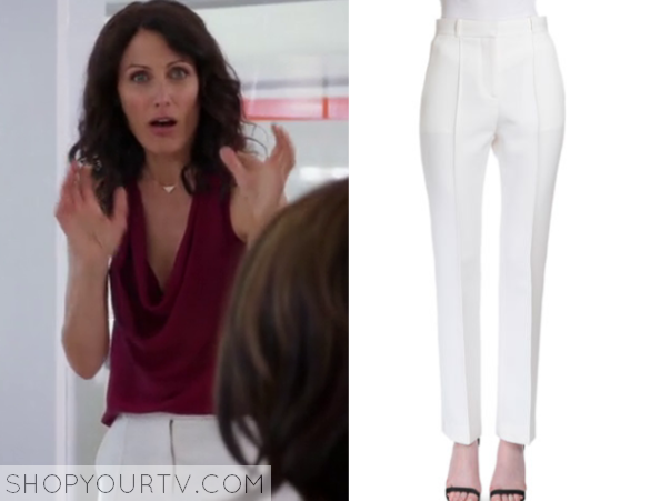 abby white trousers