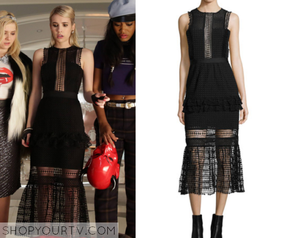 chanel lace dress