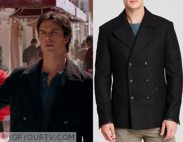 The Vampire Diaries: Season 7 Episode 9 Damon's Double Breasted ...