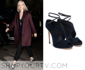 Late Show: December 2015 Jennifer Lawrence's Blue Cut Out Shoes