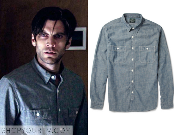 1bb9b298e52 American Horror Story  Season 5 Episode 7 John s Chambray Shirt