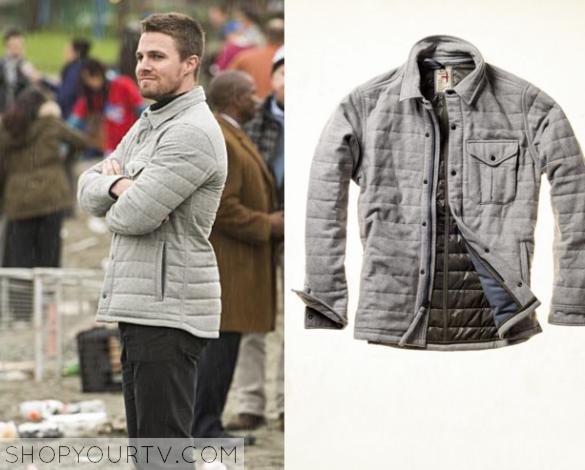 oliver grey quilted jacket