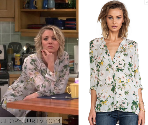 Big bang theory season 9 episode 10 penny s blue floral print blouse