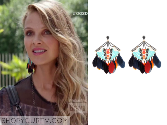 pheobe feather earrings