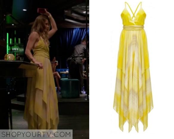 pheobe yellow drape dress