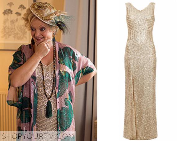 elaine gold sequin dress