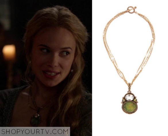 greer green stone necklace