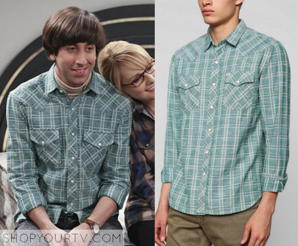 howard green plaid shirt
