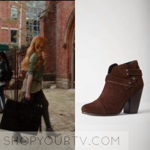 Shadowhunters: Season 1 Episode 1 Clary's Suede Boots