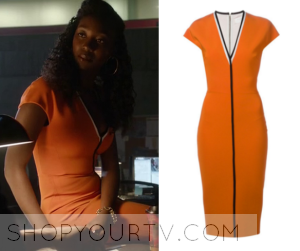 Shadowhunters: Season 1 Episode 1 Circle Member's Orange Dress