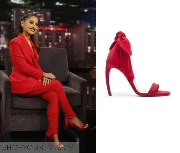 7ffe8a96bd0 Jimmy Kimmel  January 2016 Ariana Grande s Red Sandals