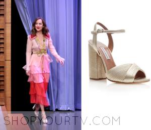 The Tonight Show: January 2015 Dakota's Gold Heels