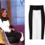 eva longoria black white skirt