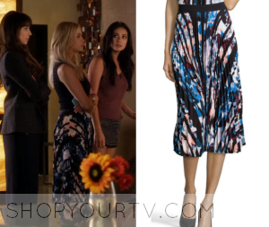 Pretty Little Liars: Season 6 Episode 14 Hanna's Floral Print Pleat Skirt