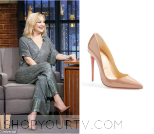Late Night: January 2016 Kate Hudson's Nude Pumps