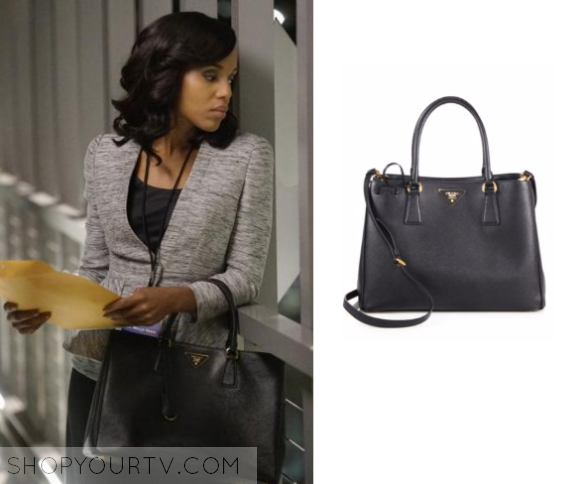 c2418d57823c Scandal  Season 5 Episode 15 Olivia s Black Leather Tote Bag