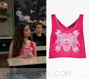 Girl Meets World: Season 2 Episode 30 Riley's Pink Embroidered Tank