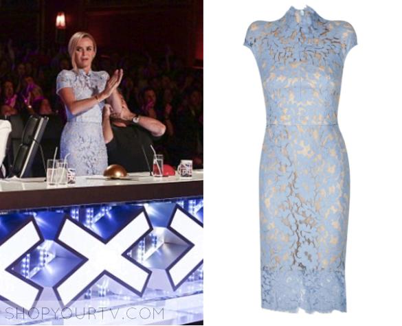 Britains Got Talent Season 10 Amandas Blue Lace Dress