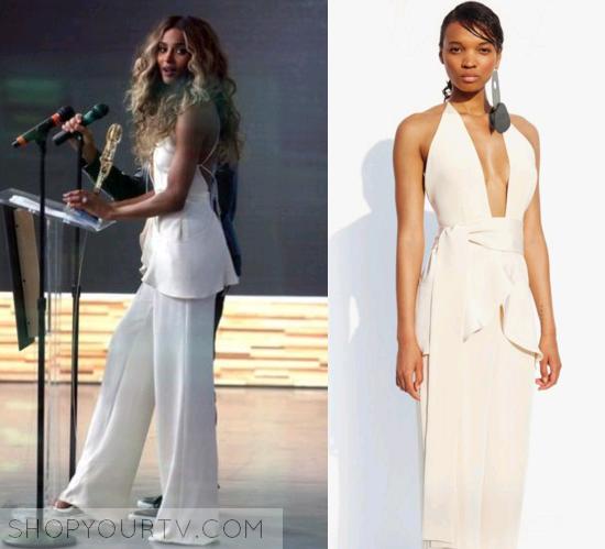 Good Morning America  April 2016 Ciara s White Jumpsuit 9ec80258f