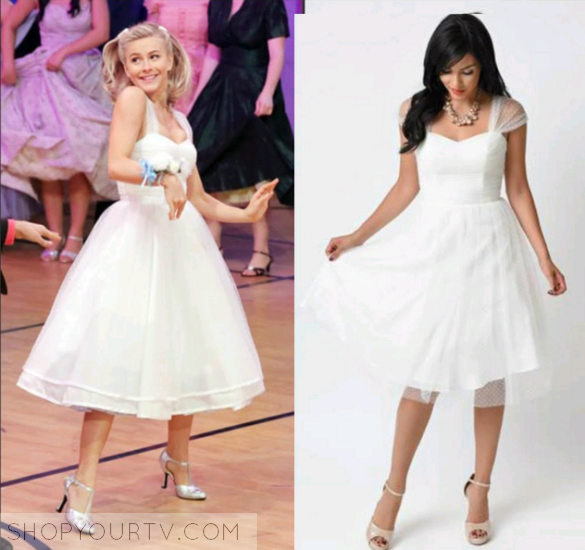 Grease Live!: Sandy's White Flare Dress – Shop Your TV