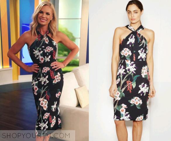 The Today Show AU  April 2016 Sonia s Floral Halter Dress d15237d74