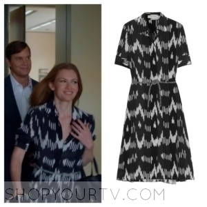 The Catch: Season 1 Episode 1 Alice's Black Printed Silk Shirt Dress